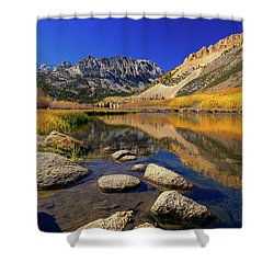 Shower Curtain featuring the photograph North Lake by Tassanee Angiolillo