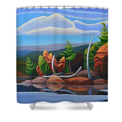 Northern Island II Shower Curtain
