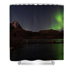 Northern Lights Aurora Borealis In Norway Shower Curtain