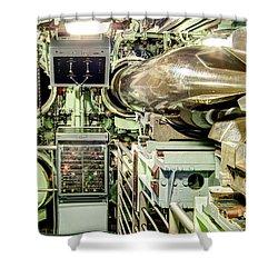 Nuclear Submarine Torpedo Room Shower Curtain