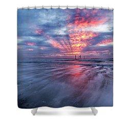 Ocean City Lights Shower Curtain