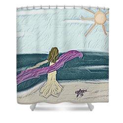 Ocean Dance Shower Curtain