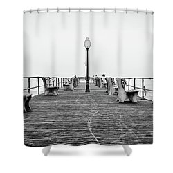 Ocean Grove Pier 1 Shower Curtain
