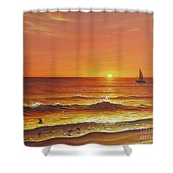 Ocean Of Fire Shower Curtain