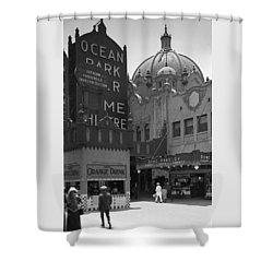 Ocean Park Pier 1920 Shower Curtain