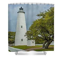 Ocracoke Lighthouse No 2 Shower Curtain
