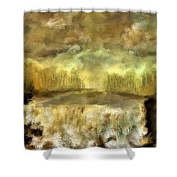 October At The Falls Shower Curtain