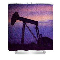 Oil Sunset Shower Curtain