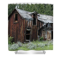Old Cabin - Elkhorn, Mt Shower Curtain