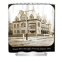 Old Customs House And Post Office, Evansville, Indiana, 1915 Shower Curtain