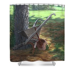 Old Farm Seeder, Louisiana Shower Curtain