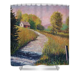 Old Road Shower Curtain