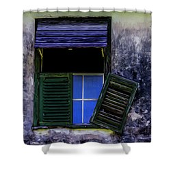 Shower Curtain featuring the photograph Old Window 2 by Stuart Manning