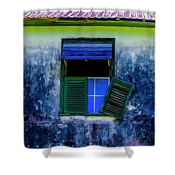 Shower Curtain featuring the photograph Old Window 3 by Stuart Manning