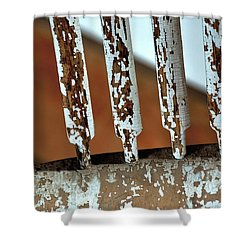 Old Wooden Chair Spindles Shower Curtain