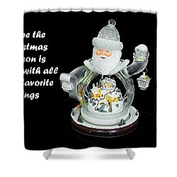 Shower Curtain featuring the photograph Old World Santa And His Hopes For The Christmas Season by Kay Brewer