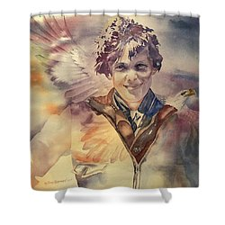 On Eagles Wings Shower Curtain