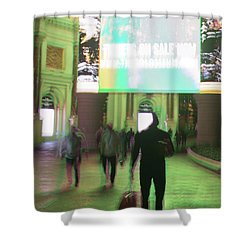 Shower Curtain featuring the photograph On Sale by Alex Lapidus