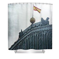 On Top Of The Puerta De Atocha Railway Station Shower Curtain