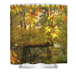 Once A Pond A Time Shower Curtain