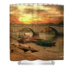 Once More To The Bridge Dear Friends Shower Curtain