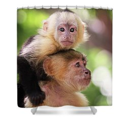 One Of Those Days When You Just Can't Seem To Get The Monkey Off Your Back Shower Curtain