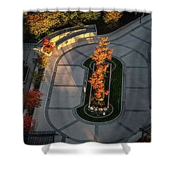 Orange Trees In Autumn Shower Curtain