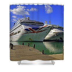 Shower Curtain featuring the photograph Oriana Antigua by Tony Murtagh