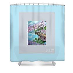 Original Painting. Joy Of Spring. Shower Curtain