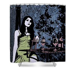 Out At Night Shower Curtain