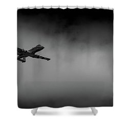 Out Of The Clouds - A-10c Thunderbolt Shower Curtain