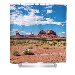 Outside The Park Shower Curtain