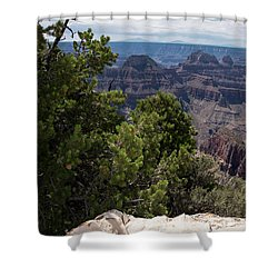 Over The Edge Shower Curtain