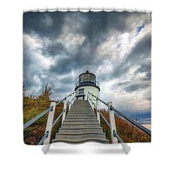 Shower Curtain featuring the photograph Owls Head Lighthouse by Rick Berk