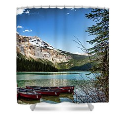 Paddles For Emerald Lake Shower Curtain