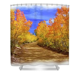 Painted Aspens Shower Curtain