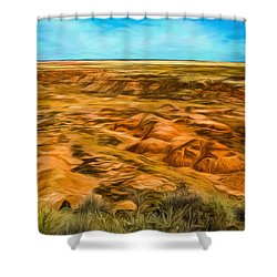 Shower Curtain featuring the photograph Painted Desert Far View by Jon Burch Photography