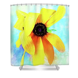 Flopsy - A Charming Wild Black-eyed Susan  Shower Curtain
