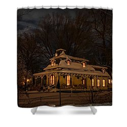 Painted Lady In Winter Shower Curtain