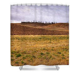 Shower Curtain featuring the photograph Palouse Farmland by David Patterson