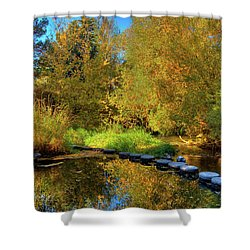 Shower Curtain featuring the photograph Palouse River Reflections by David Patterson