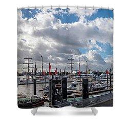 Panoramic View Of Hamburg Shower Curtain