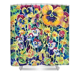 Pansies And Violas Shower Curtain