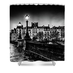 Paris At Night - Pont Neuf Shower Curtain