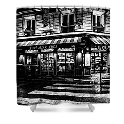 Paris At Night - Rue Bonaparte Shower Curtain