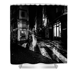 Paris At Night - Rue De Seine Shower Curtain