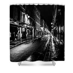 Paris At Night - Rue De Vernueuil Shower Curtain
