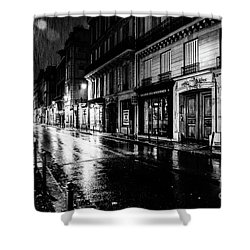 Paris At Night - Rue Saints Peres Shower Curtain