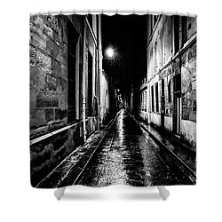 Paris At Night - Rue Visconti Shower Curtain