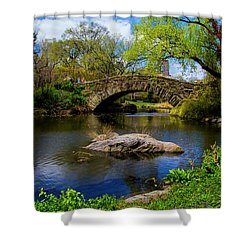 Shower Curtain featuring the photograph Park Bridge2 by Stuart Manning